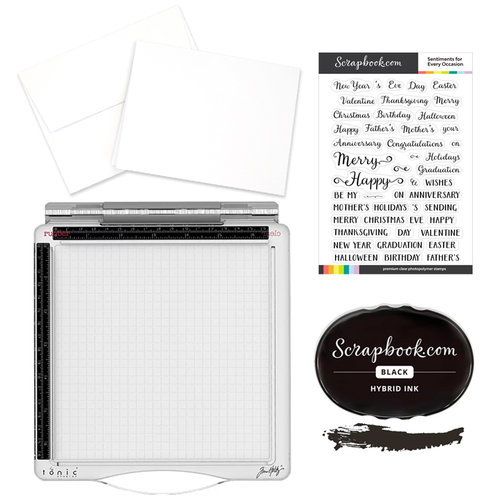 Tim Holtz - Travel Stamp Platform and Sentiments for Every Occasion Card Making Kit