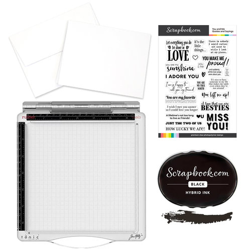 Tim Holtz - Travel Stamp Platform and You and Me Quotes and Sayings Card Making Kit