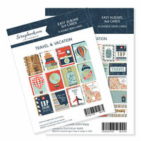 3 x 4 and 4 x 6 - Themed Cards for Easy Albums - Travel and Vacation Bundle