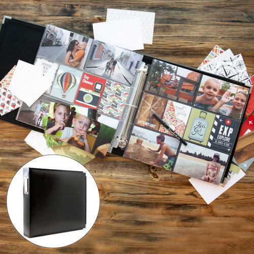 Travel/Vacation Easy Albums Kit with Black Album