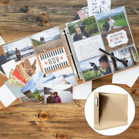 Scrapbook.com - TravelVacation Easy Albums Kit with Gold Album
