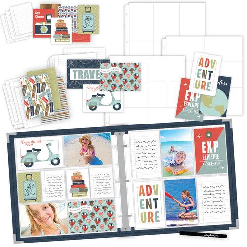 Scrapbook.com - TravelVacation Easy Albums Kit with Navy Album