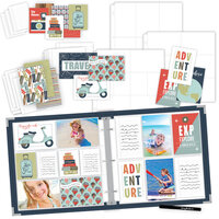 Scrapbook.com - TravelVacation Easy Albums Kit with Navy Album