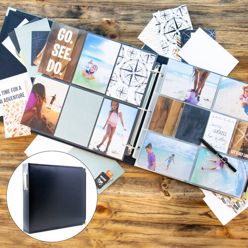 Travel/Vacation Easy Albums Kit with Navy Album