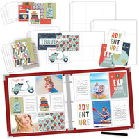 Scrapbook.com - TravelVacation Easy Albums Kit with Red Album