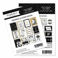 Scrapbook.com - 3 x 4 and 4 x 6 - Themed Cards for Easy Albums - Wedding and Honeymoon Bundle