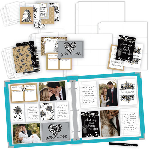 Scrapbook.com - Wedding Easy Albums Kit with Aqua Album