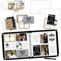Scrapbook.com - Wedding Easy Albums Kit with Black Album