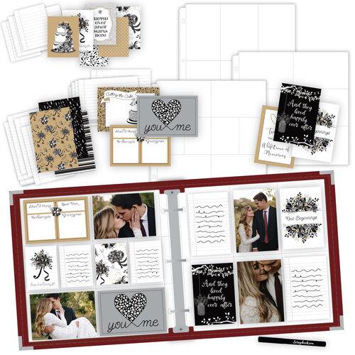 Scrapbook.com - Wedding Easy Albums Kit with Deep Red Album