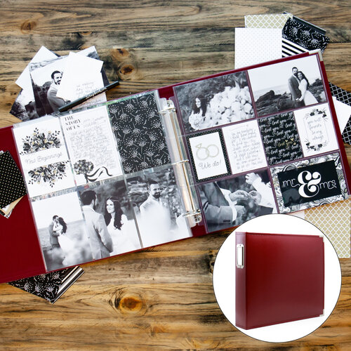Wedding Easy Albums Kit with Deep Red Album