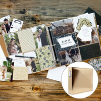 Scrapbook.com - Wedding Easy Albums Kit with Gold Album