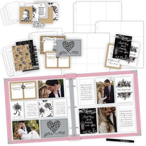 Scrapbook.com - Wedding Easy Albums Kit with Pink Album