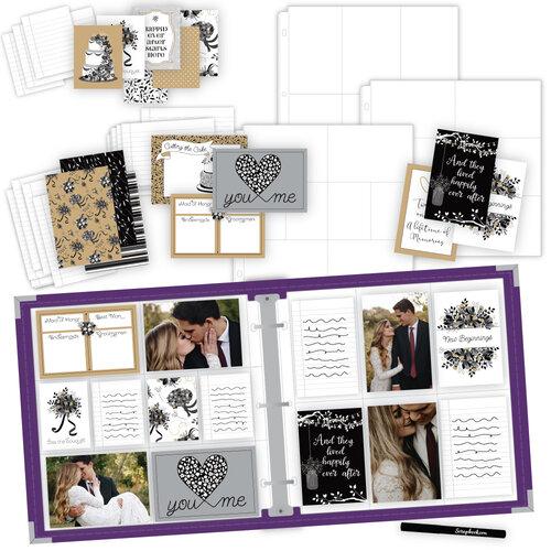 Scrapbook.com - Wedding Easy Albums Kit with Purple Album