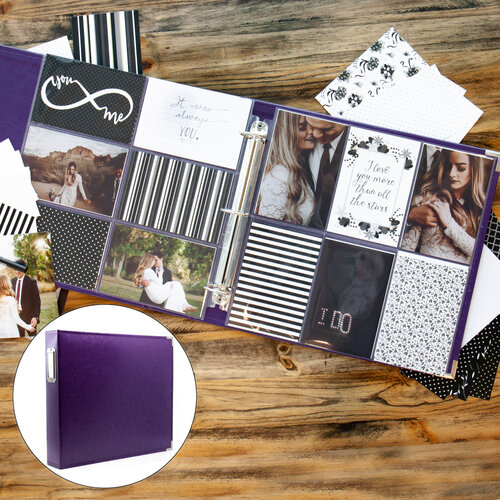 Wedding Easy Albums Kit with Purple Album