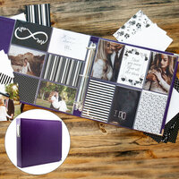 Scrapbook.com - Wedding Easy Albums Kit with Purple Album