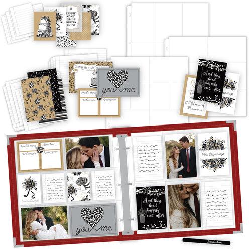 Scrapbook.com - Wedding Easy Albums Kit with Red Album