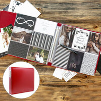 Scrapbook.com - Wedding Easy Albums Kit with Red Album