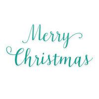 Scrapbook.com - Decorative Die Set - Mini - Merry Christmas