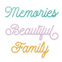Scrapbook.com - Decorative Die Set - Beautiful Family Sentiments