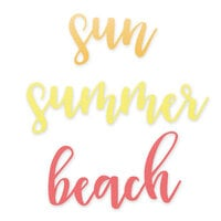 Scrapbook.com - Decorative Die Set - Summer Beach Sentiments