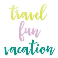 Scrapbook.com - Decorative Die Set - Travel and Vacation Sentiments