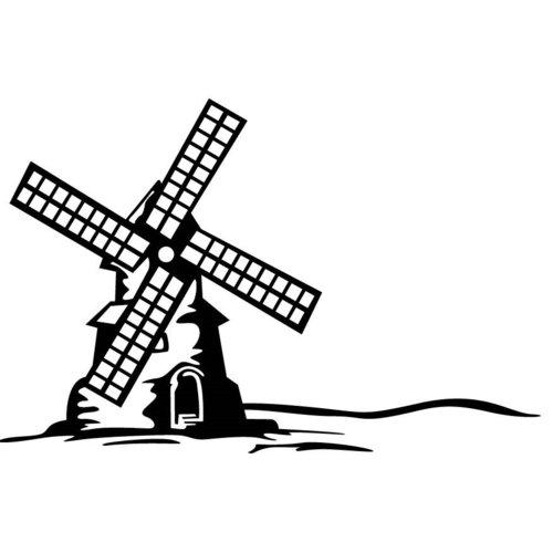 Gina Marie - Embossing Folder - 4 x 6 - Windmill