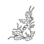 Gina Marie - Embossing Folder - 4 x 6 - Cardinal Holly
