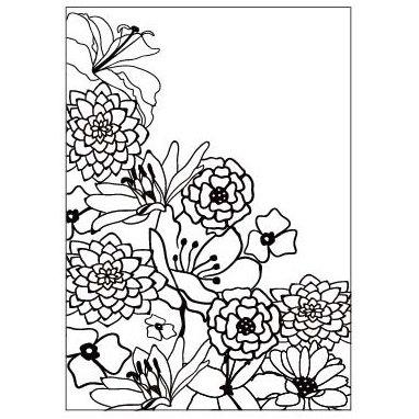 Gina Marie - Embossing Folder - 4 x 6 - Wildflowers