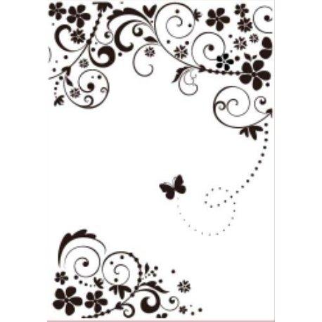 Gina Marie - Embossing Folder - 5 x 7 - Flourished Butterfly