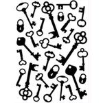 Gina Marie - Embossing Folder - 5 x 7 - Antique Keys