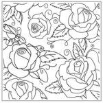 Gina Marie - Embossing Folder - 5 x 5 - Rose Garden