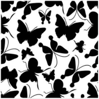 Gina Marie - Embossing Folder - 5 x 5 - Butterfly Background