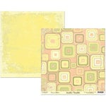 Scribble Scrabble - Naomi Collection - 12 x 12 Double Sided Paper - Retro Squares
