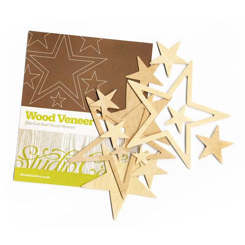 Studio Calico - Elementary Collection - Wood Veneer Pieces - Stars