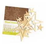Studio Calico - Elementary Collection - Wood Veneer Pieces - Stars