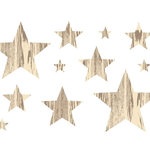 Studio Calico - Elementary Collection - Rub Ons - Stars - Woodgrain