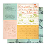 Studio Calico - Elementary Collection - 12 x 12 Double Sided Paper - Library, CLEARANCE