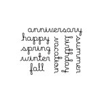 Studio Calico - Elementary Collection - Clear Acrylic Stamps - Sentiments, CLEARANCE