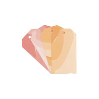 Studio Calico - Color Theory - Watercolor Tags - Poppy and Orange County
