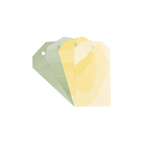 Studio Calico - Color Theory - Watercolor Tags - Lemon Zest and Yes Peas