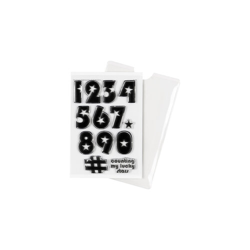 Studio Calico - Clear Photopolymer Stamps - Star Numbers