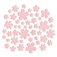 Kingston Crafts - Chipboard Shapes - Flowers - Pink Glitter