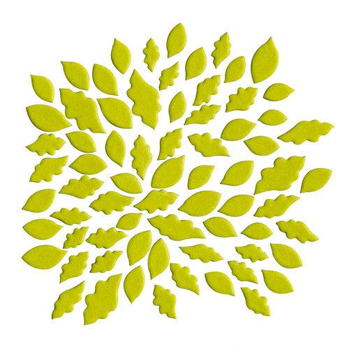 Kingston Crafts - Chipboard Shapes - Leaves - Lime Light