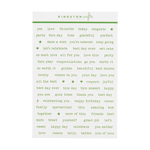 Kingston Crafts - Stickers - Phrases