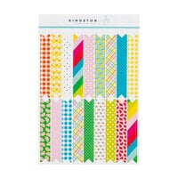 Kingston Crafts - Stickers - Washi Pennant Flag