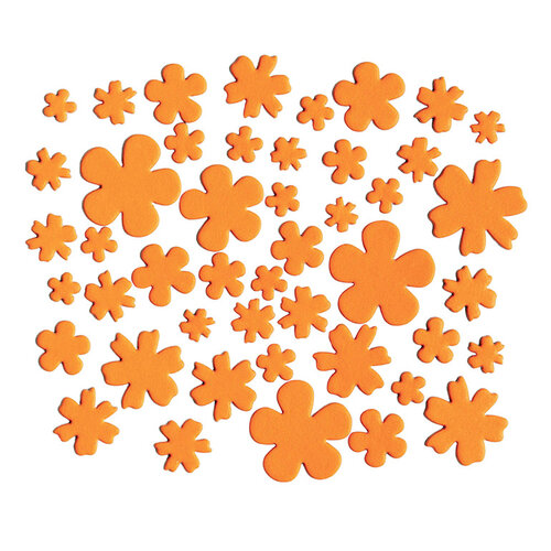 Kingston Crafts - Chipboard Shapes - Flowers - Orange County