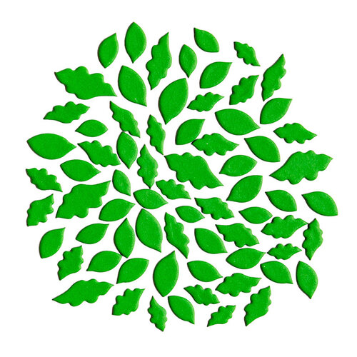 Kingston Crafts - Chipboard Shapes - Leaves - Rolling In Clover