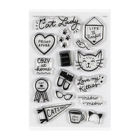Studio Calico - Clear Photopolymer Stamps - Cat Lady