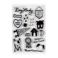 Studio Calico - Clear Photopolymer Stamps - Dog Lady