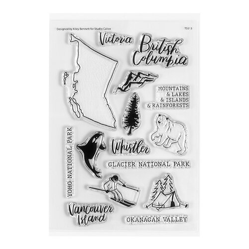 Studio Calico - Clear Photopolymer Stamps - British Columbia